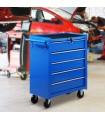 Dulap de scule cu 5 sertare mobil E2 – 0005, albastru