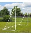 Poarta de fotbal cu plasa, metal, 366x183x122cm, A62-016